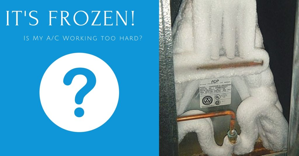 Frozen A/C: Is it Running Too Hard?